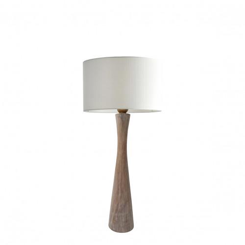 Lampe AMARINE bois blanchi