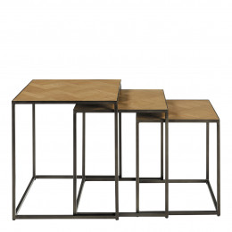 Set de 3 tables gigognes AMELIE