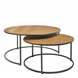 Set 2 tables basses rondes AMELIE