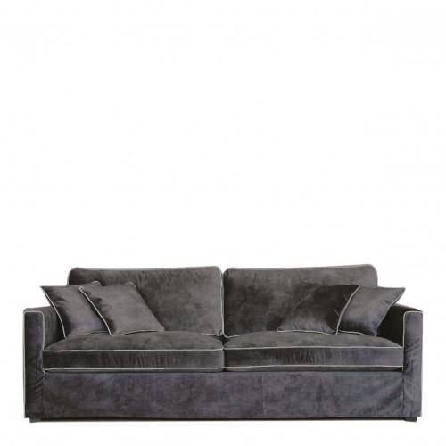 Canapé ANGIE velours gris foncé