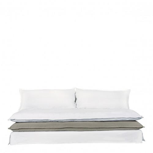 Canapé LEO blanc et gris