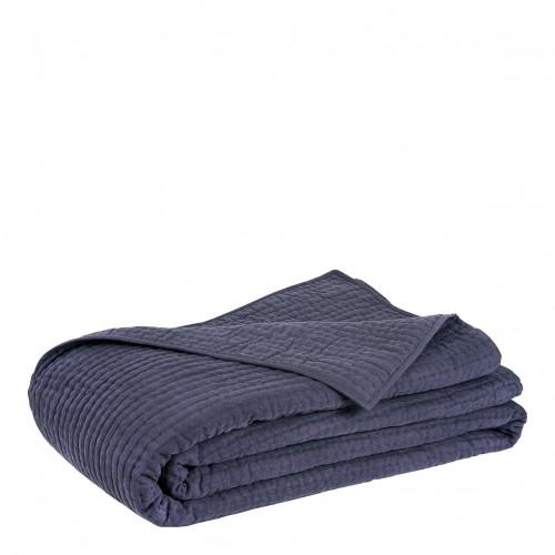 Dessus de lit GABY bleu nuit - 270 x 260 cm