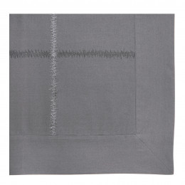 Taie d'oreiller GABRIELLE ardoise - 75 x 50 cm