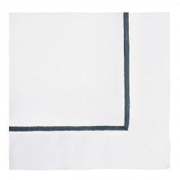 Taie d'oreiller JANE blanc brodé indigo - 65 x 65 cm