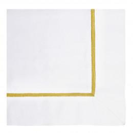 Taie d'oreiller JANE blanc brodé safran - 75 x 50 cm