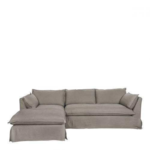 Canapé d'angle LENA taupe