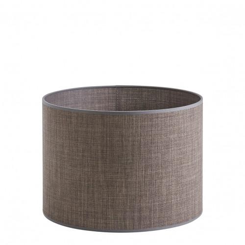 Abat-jour cylindrique taupe - Diam. 35 cm