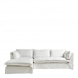 Canapé d'angle LENA blanc