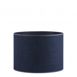 Abat-jour cylindrique indigo - Diam. 35 cm