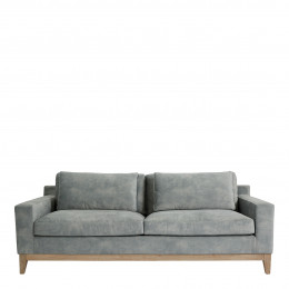 Canapé LEONORE velours gris clair