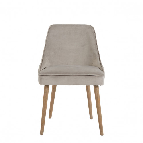 Chaise MARCUS velours grège