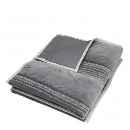 Courtepointe CLAIRE gris