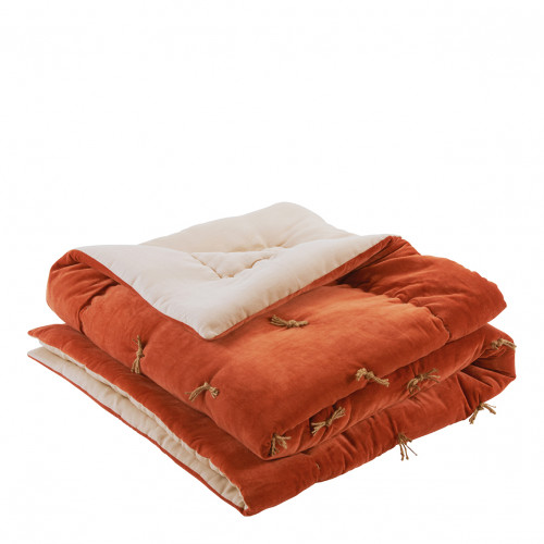 Courtepointe MATTEO orange brûlé